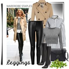 Wardrobe Staples: Leggings by lotoss on Polyvore featuring Canvas by Lands' End…