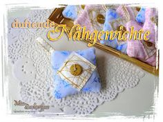 Duftende Nähgewichte aus Stoffresten / Scented sewing weights made from scraps of fabric / Upcycling