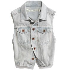 Madewell MADEWELL Longroad Denim Vest In Sawmill Wash (115 AUD) ❤ liked on Polyvore featuring outerwear, vests, jackets, tops, vest waistcoat, denim vests, madewell vest, denim waistcoat and madewell