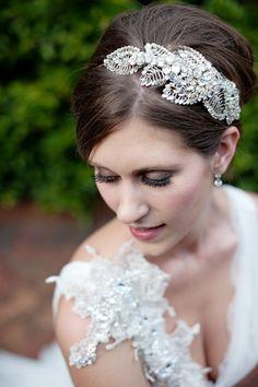 Jenny Packham headpiece (and dress)