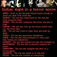 LMAO...Horror movies