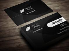 Creative Dark Business Card by bouncy on @creativemarket