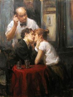 """""""Lovers""""      """" L'Interruption  """"   by Ron Hicks"""