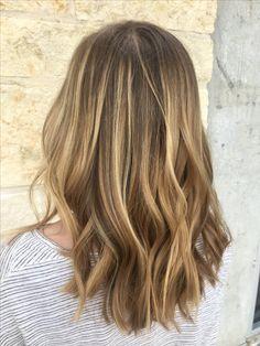 blonde balayage on light brown hair