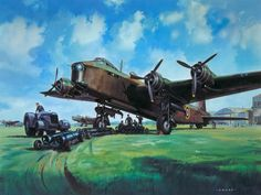 Short Stirling by Roy Cross Bristol Beaufighter, Ww2 Aircraft, Military Aircraft, Aircraft Images, Airfix Models, Airfix Kits, Aircraft Painting, Airplane Art, Cross Art