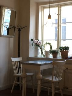 Loving the interior at Petri's chocolate room cafe in Porvoo, Finland Scandinavian Interior, Finland, Chocolate, Table, Room, Furniture, Beautiful, Hair Styles, Home Decor