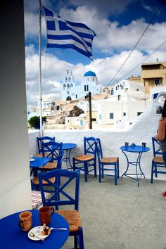 Coffee with a view, Oia, Santorini