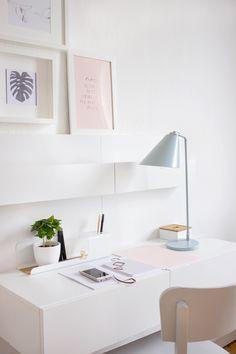 #homeoffice #pantone #serenity ärosequartz #impressions #office #bloomingvielle #lamp