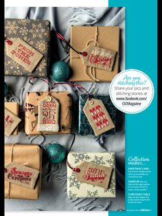 Tagged with Love by Emma Congdon Cross Stitch Collection Issue 256 December 2015 Zinio Saved