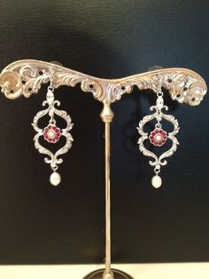 Gorgeous Vintage Bridal Earrings By Homa