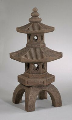 Japanese Garden Lanterns, Japanese Stone Lanterns, Japanese Garden Design, Miniature Zen Garden, Miniature Gardens, Pagoda Garden, Asian Garden, Oriental Furniture, Cast Stone