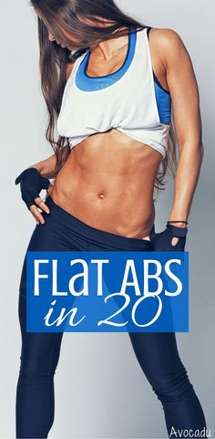 Flat Abs Workout | Ab Exercises | Workout to Lose Weight Fast | Workout Plan for Women | http://avocadu.com/flat-abs-workout-in-20-minutes/