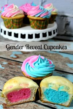 Gender Reveal Cupcakes - Teaspoon Of Goodness