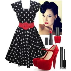 Pinup Fashion: Love this whole Rockabilly Look:: Rockabilly Style:: Fashion:: Rockabilly Hair and Makeup ALWAYS loved the look! Looks Rockabilly, Mode Rockabilly, Rockabilly Fashion, Rockabilly Makeup, 50s Makeup, Rockabilly Dresses, Moda Retro, Moda Vintage, Vintage Mode
