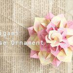 【ユニット折り紙】バラのオーナメント Origami Box, Ornaments, Cute, Kawaii, Christmas Decorations, Ornament, Decor