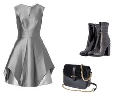 """""""go silver"""" by bj-ruff on Polyvore featuring Halston Heritage"""