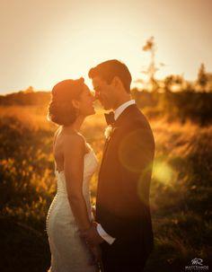 Bride and Groom | Sunset | Wedding | Enzoani | Saratoga National © Matt Ramos Photography