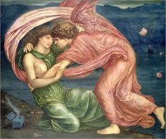 Edward Burne-Jones - Cupid delivering Psyche