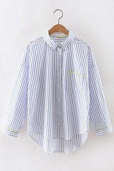 Casual Shirt In Stripe Pattern