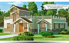 #Kerala #House Plans @1747 Sq-ft Single Floor #Villa details  Ground Floor -1747 Sq.Ft Sit out Drawing Office Room Dining Bed room -2 Attached Dress & Bath room - 1 Common Toilet - 1 Kitchen Total : 1747 Sq.ft