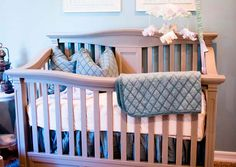 Vintage Grey nursery perfect for baby boy or baby girl with the right accessories. Warm Taupe grey with a light distressing all solid wood for a timeless room design.