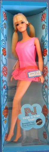 1969 – 1983 P.™, Barbie™ Doll's Cousin. – Barbie Doll, friends and family history and news. From 1959 to the present … Barbie I, Vintage Barbie Dolls, Barbie World, Barbie And Ken, Vintage Toys, My Childhood Memories, Childhood Toys, Quick Curls, German Toys