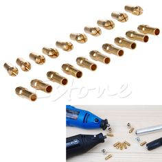 Cheap drill stand, Buy Quality drill chuck directly from China chucks pads Suppliers: New 10Pcs Brass Drill Chucks Collet Bits 0.5-3.2mm 4.3mm Shank for Dremel Rotary Tool