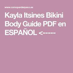 Kayla Itsines Bikini Body Guide PDF en ESPAÑOL
