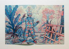 Amazing two colour risograph print. Edouard Baribeaud.