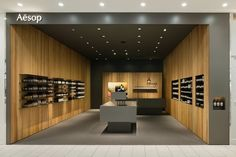 Tokyo-based Torafu Architects has recently completed the interior of the new Aesop store in Sendai's Parco 2 shopping mall in Japan. Sendai, Retail Store Design, Retail Shop, Retail Displays, Shop Displays, Merchandising Displays, Window Displays, Centre Commercial, Commercial Design