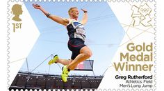 Greg Rutherford winning Gold in long jump at the London 2012 Olympics.