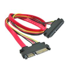 22-pin (7+15) SATA Male to Female DATA and Power Combo Extension Cable - Slimline SATA Extension Cable M/F - 20inch (50cm) by Importer520. $3.79. 22-Pin SATA Extension custom cable assembly contains both 15-pin Power and 7-pin Data with Male and Female connections. It allow you to extend the distance/placement of Slimline SATA drives within a tower style computer case by 1 Feet - in turn making it easier to position your Slimline capable peripherals (drives etc.) as needed. With ...