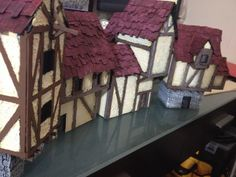Fantasy Town, Make Your Own, Make It Yourself, Miniatures, Houses, Homes, House, Minis, Computer Case