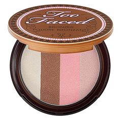 Glitter, Bronze, Perfection.     Too Faced Caribbean In A Compact - Snow Bunny: Shop Bronzer | Sephora