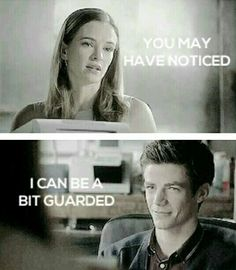 It's okay Caitlin... Barry will put your guard down and make you feel safe ♥ #Snowbarry