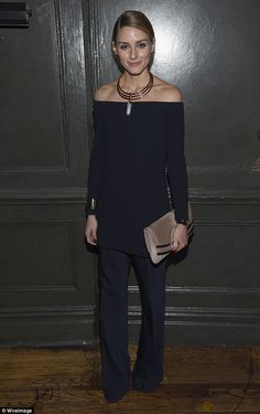 Turning up: Olivia Palermo missed the screening as she was launching her nail varnish rang...