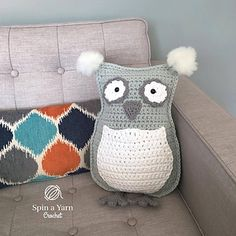 A fun throw pillow or huggable plushie owl! In the blog post you'll find discussions on what type of yarn to use to get very different and versatile results for your own owl.