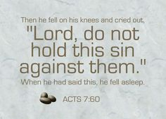 Acts 7:60