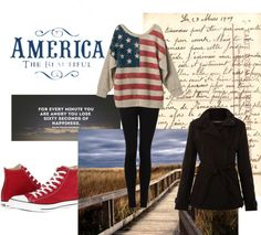 """Laugh, love, and live like an american."" by coco-julia ❤ liked on Polyvore"