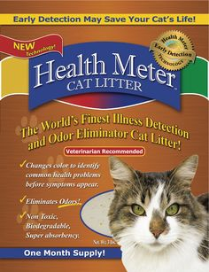 Health Meter Cat Litter that changes color when your cat has certain health problems (e.g. urinary tract infections) Also non-toxic and biodegradable!