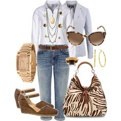 Jeans & Jacket, created by lulaf25 on Polyvore