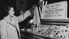 Along with the rationing of food, rubber and gasoline, World War II also saw the U.S. government place strict limits on the sale of nylon, a synthetic material needed for ropes, netting and other military equipment.