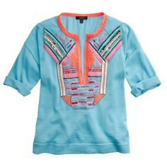 Pre-order Collection short-sleeve beaded sweater
