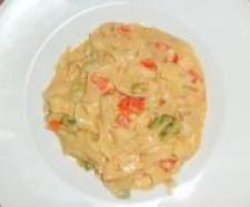 Rezept Wirsing oder Spitzkohl italienisch mit Bandnudeln von Thermifee - Rezept der Kategorie Hauptgerichte mit Gemüse