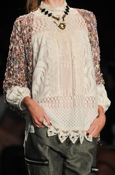 Anna Sui Spring 2013 #fashion #style
