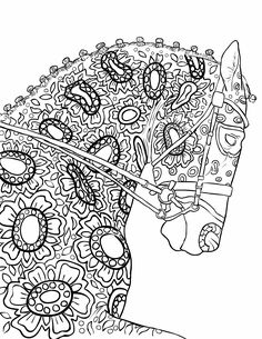 Adult Coloring Book Page, Beautiful Stallion For Adult Coloring To Download   Selah Works