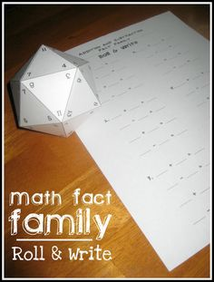Relentlessly Fun, Deceptively Educational: Math Fact Family Roll & Write