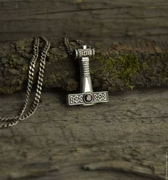 Thor's Hammer Necklace, Mjolnir Pendant, Mens Silver Jewelry, Thors Hammer, Viking Jewelry, Metal Clay, Blacksmithing, Swords, Vikings
