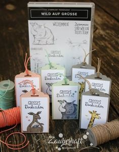 Animal Outing stamp set from Stampin' Up!'s Animal Expedition Suite Kids Cards, Baby Cards, Card Tags, Gift Tags, Paper Craft Making, Stampin Up Catalog, Animal Cards, Paper Cards, Stamping Up