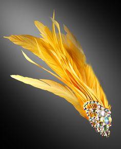 Zdenka Arko Yolk Rhinestone Hair Piece HA11006-40 - Rhinestone Jewelry Ballroom Dance Hair, Ballroom Jewelry, Crystal Bracelets, Crystal Earrings, Dance Hairstyles, Feather Crafts, Hair Decorations, Cuff Earrings, Rhinestone Jewelry